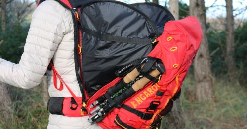 Roo backpack opens wide to carry more gear
