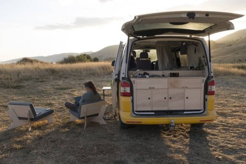 Transforming VW camper van cooks and camps inside and out