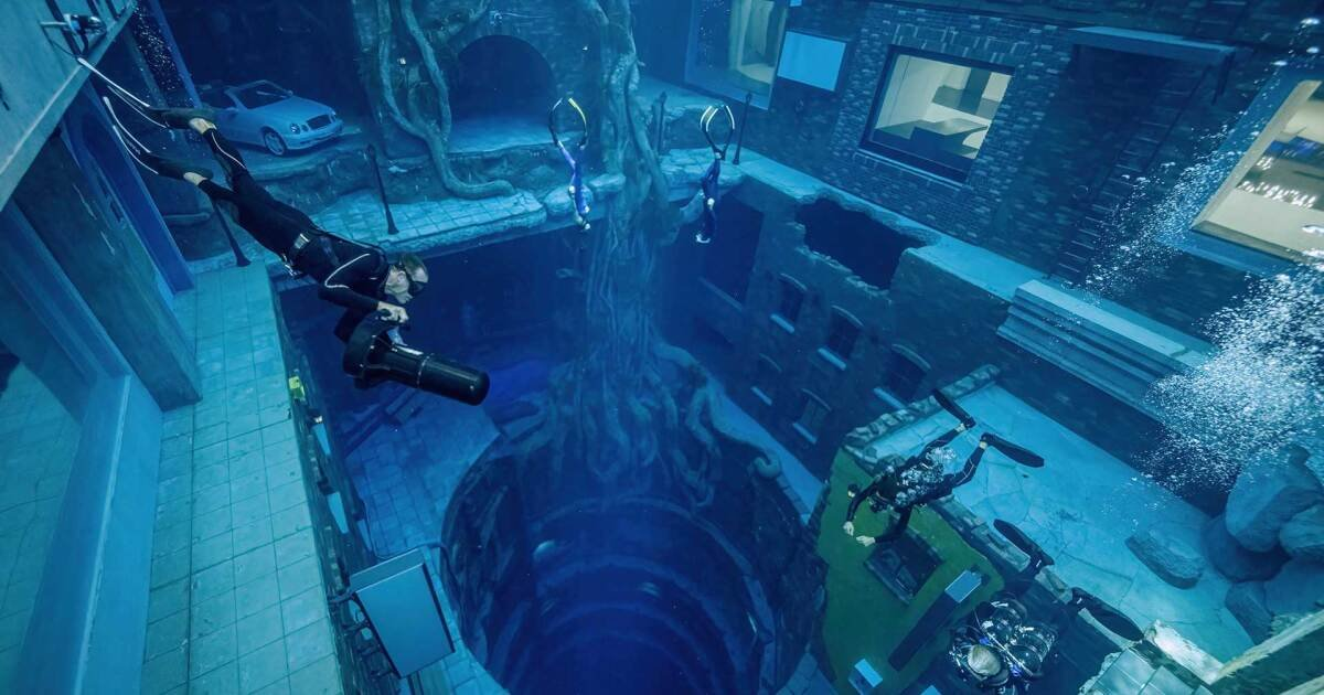 World's deepest pool plunges divers into a sunken city in Dubai