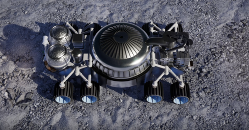 Rocket mining system blasts water from beneath the Moon's surface