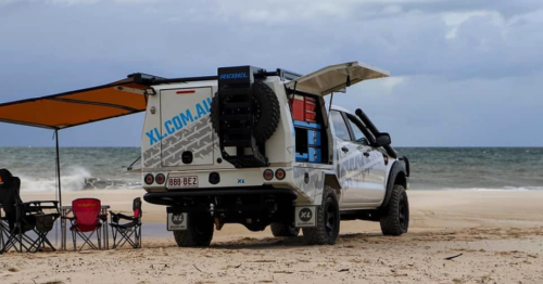 Rebel X truck canopy shifts seamlessly between work and RV adventure