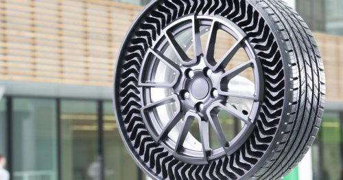 Michelin's airless passenger car tires get their first public outing
