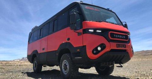 Torsus updates its terrain-devouring Praetorian off-road bus