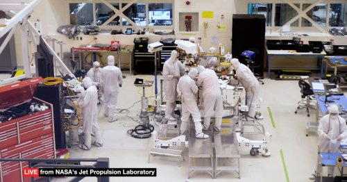 24-hour webcam lets you watch as engineers build NASA's next Mars rover