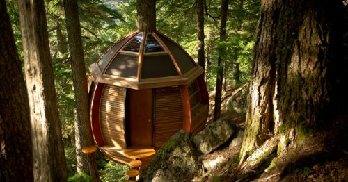 HemLoft treehouse is a quiet forest retreat ... if you can find it