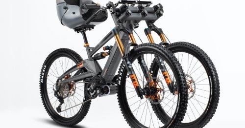 Orange Phase AD3 adaptive eMTB packs three wheels and a bucket seat
