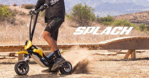 Mini-moto and e-scooter hybrid kicks up some dirt
