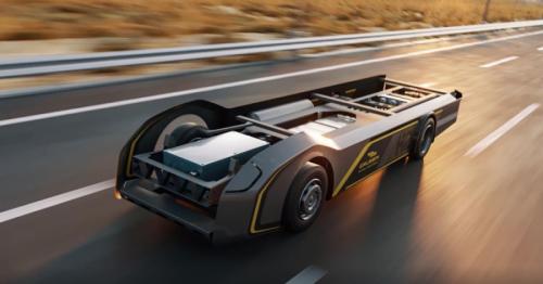 Gaussin's skateboard for hydrogen trucks promises 500-mile range
