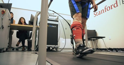 Experimental ankle exoskeleton increases walking speed by 40%