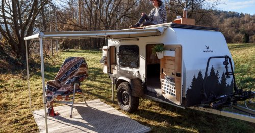Tiny Bruno camping trailer lives large inside, outside and on the roof
