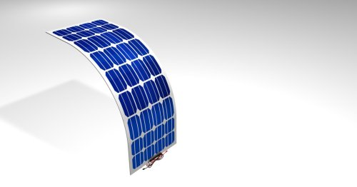 Fully foldable solar cell bends in half without breaking