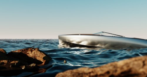 Dazzling aluminum electric boat powers to speeds of 70 knots
