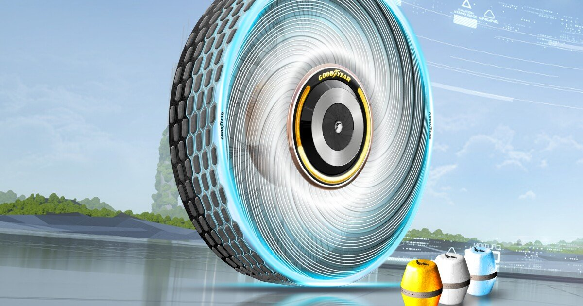 """Goodyear's """"rechargeable"""" concept tire extrudes extra tread as needed"""