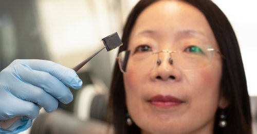 Carbon dots made from hair boost stability of perovskite solar cells