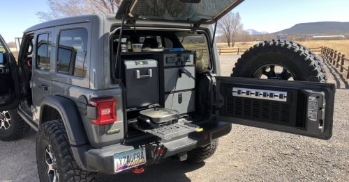 Off-grid electric camper box modernizes Jeep Wrangler camping
