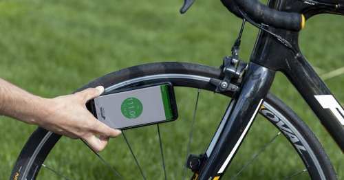 Battery-free PSIcle sensor transmits tire pressure data to smartphones