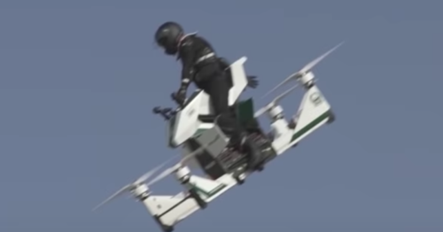 Video: Russian hoverbike loses control at 100 ft and crashes in Dubai