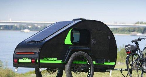 Fat-tire teardrop ebike camper explores the world via road and dirt