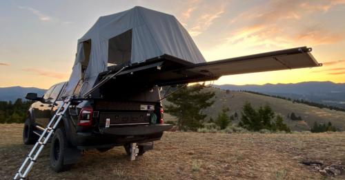 Flip-open pickup camper is a truckable vault of off-grid adventure