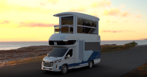 Towering Chinese smart RV features elevator to second-floor sun room