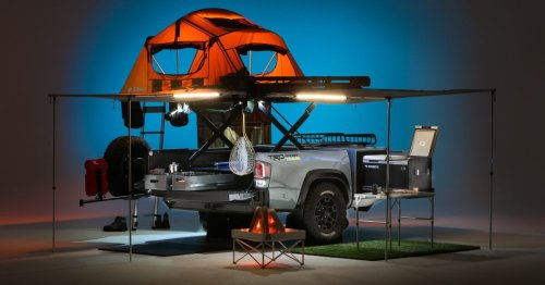 Toyota Tacoma camper trailer is an overlanding multitool