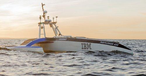IBM's autonomous Mayflower ship sets sail across the Atlantic sans crew