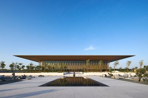Foster + Partners' library offers a shaded oasis in the UAE
