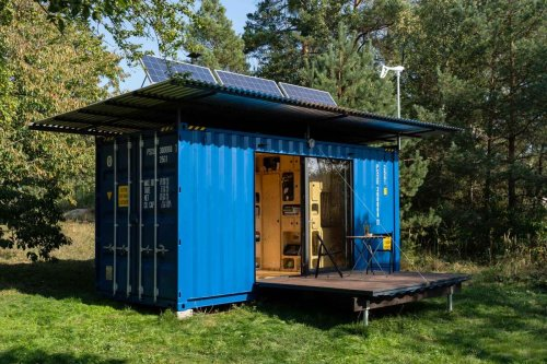 Off-grid container-based home is tiny in size and cost