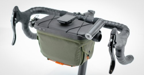 Handlebar Bag features pop-up lid and multiple mounts