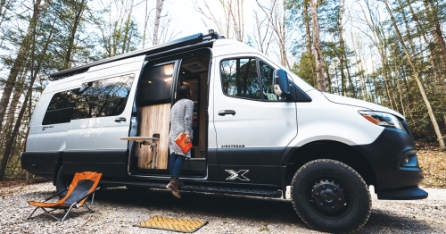 Airstream 4x4 camper van fuses silver bullet style with pure adventure