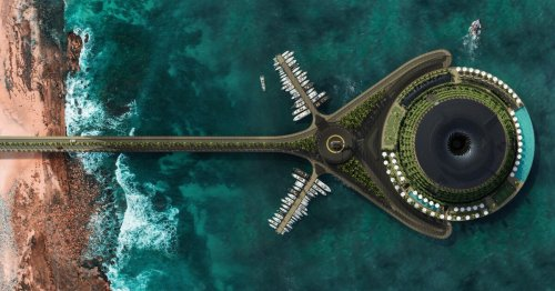 Eco-Floating Hotel puts ambitious spin on sustainable design