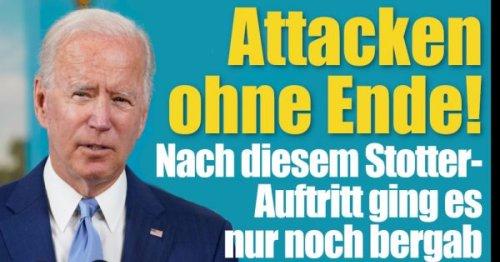Joe Biden News: Attacken ohne Ende! Nach diesem Stotter-Auftritt ging es nur noch bergab