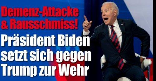 Joe Biden: Demenz-Attacke und Rausschmiss! Präsident setzt sich gegen Trump zur Wehr