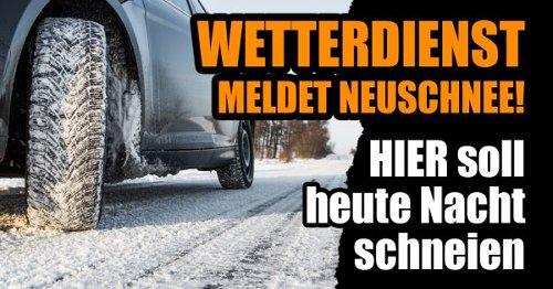 Wetter im April 2021: Wetterdienst meldet Neuschnee! HIER soll heute Nacht schneien