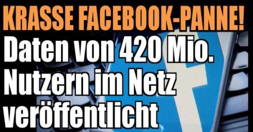 Facebook-Daten öffentlich im Netz: Telefonnummern von 420 Millionen Facebook-Nutzern plötzlich öffentlich