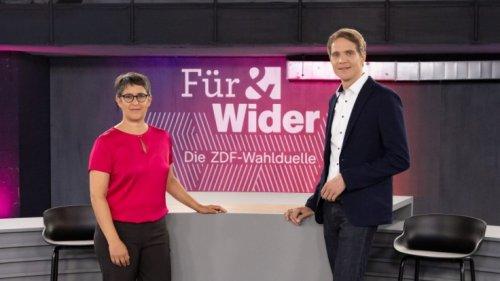 """""""Für & Wider - Die ZDF-Wahlduelle"""" bei ZDF im Live-Stream und TV: Folge 2 der Diskussion"""