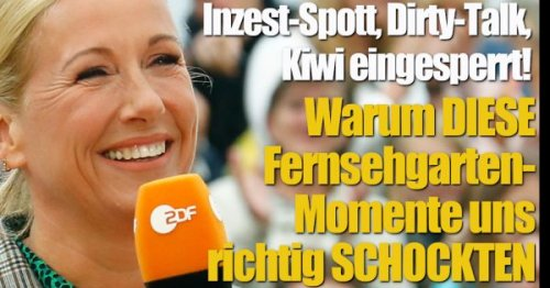 """""""ZDF-Fernsehgarten"""" 2021: Inzest-Spott, Dirty-Talk, Kiwi eingesperrt! DAS schockte die TV-Zuschauer"""