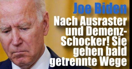Joe Biden News: Nach Ausraster und Demenz-Schocker! SIE gehen bald getrennte Wege