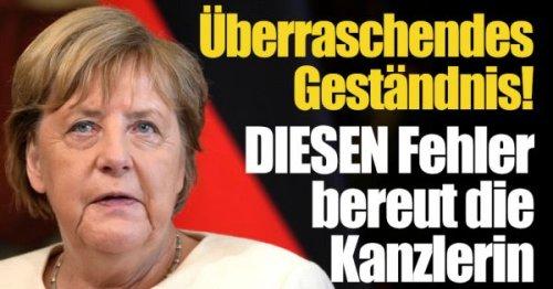 Angela Merkel: Überraschendes Geständnis! DIESEN Fehler bereut die Bundeskanzlerin