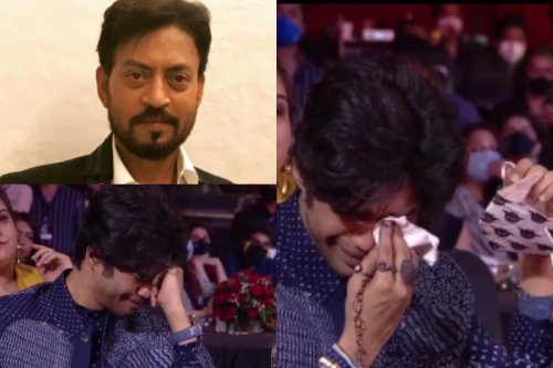 Irrfan Khan's Son Babil Cries Inconsolably As He Accepts His Dad's Best Actor Honour