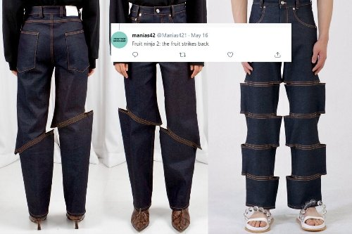 Slashed Jeans are the New Fashion Trend in Town and They are Reminding Twitter of 'Fruit Ninja'