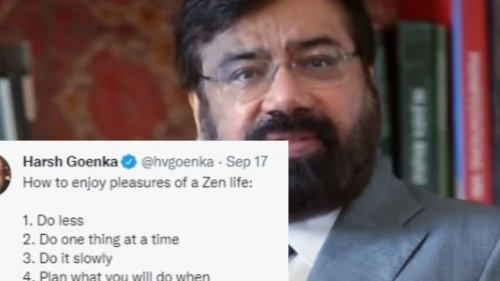Harsh Goenka Lists How to 'Enjoy Pleasures of Zen Life', Twitter Reacts