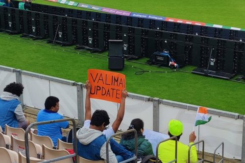 'Valimai Update' Reaches WTC Final Too; Actor Ajith Kumar Fans Put Up Poster in Southampton