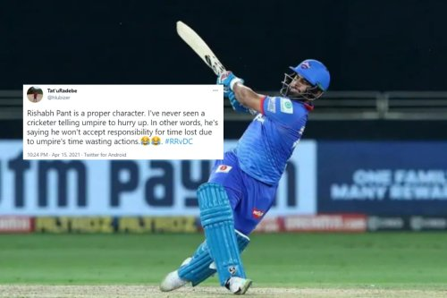 Rishabh Pant 'Warning' Umpire of Slow Over-Rate During DC vs RR Leaves Twitter in Splits