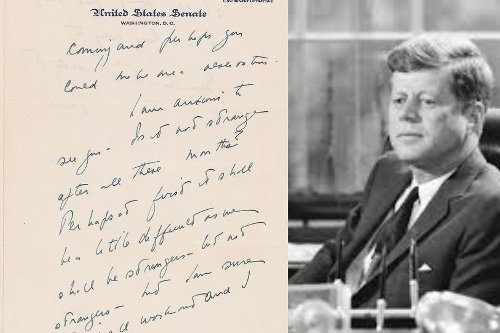 'Anxious to See You:' John F Kennedy's Letters to Swedish Lover Written on Senate Letterhead Auctioned