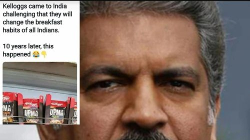 Anand Mahindra's Meme on Kellogg's 'Upma' Breakfast Comes With Powerful Message