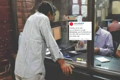 Anand Mahindra Uses Viral Pic to Remind Us Why Social Distancing is Need of the Hour