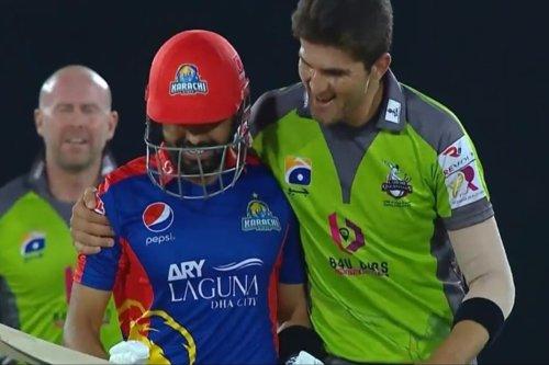 PSL 2021: WATCH-Shaheen Afridi Hugs Babar Azam, Gives Him a Warm Farewell After Dismissal
