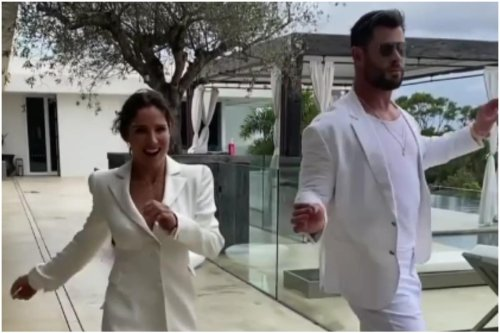 Watch: Chris Hemsworth, Elsa Pataky Show Off Their Dance Moves at Theme Party