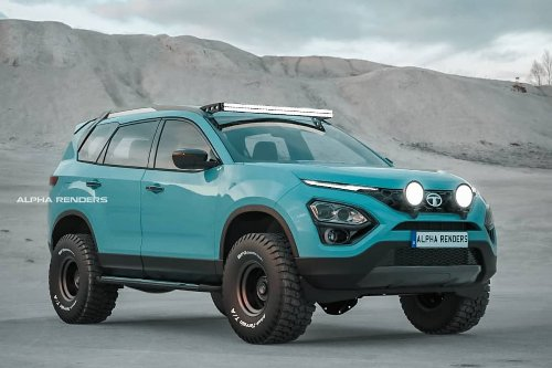 This Tata Safari Adventure Persona Rendered as a 4X4 Off-Roader Makes us Wish it Was Real